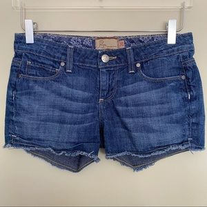 Paige Silver Lake Short Cutoff Frayed Shorts - 26